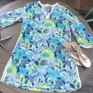 Lilly Pulitzer Oasis Tunic Swimsuit Coverup S Pick